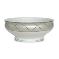 overstock white salad bowl