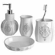 white vintage bathroom set