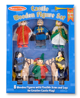 wooden figure set shelf pulls