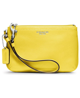yellow coach wallet bag