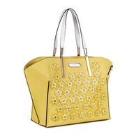 yellow nicole lee purse lots
