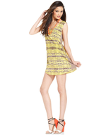 yellow tribal print dress