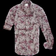 zara floral grey button shirt